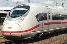 ICE 3, Baureihe 407 bei Versuchsfahrt in Würzburg Hbf.