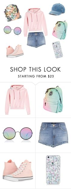 """""""Color Blast"""" by ev5443am0408 ❤ liked on Polyvore featuring Vetements, Sunday Somewhere, J Brand, Converse and Mudd"""