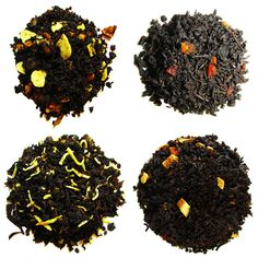 A sample of some of the many flavored black blends! An array of flavors, color, and taste! Enjoy! #blacktea