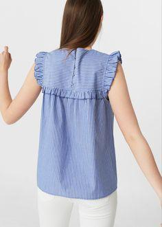 Ruffle printed blouse | MANGO - #bllusademujer #mujer #blusa #Blouse