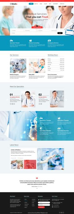 Medix is a PSD template for Health and Medical #websites. It is a highly suitable template for doctors, dentists, hospitals, health #clinics, surgeons and any type of health or #medical organization.
