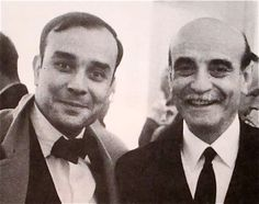 Yves Klein and my man   Lucio Fontana  at the Galerie Rive Droite  Paris  October 11, 1960