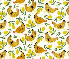 For cloth napkins or kitchen towels -- Sicilian Kitsch fabric by sferone on Spoonflower - custom fabric
