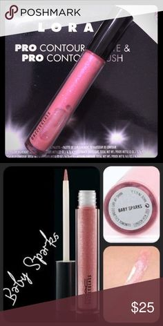 MAC Dazzleglass in Baby Sparks A cult classic. A soft baby pink with pink reflects. Discontinued. No box. MAC Cosmetics Makeup Lip Balm & Gloss