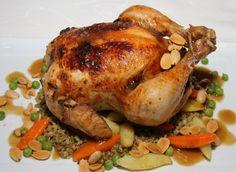 دجاج مشوي مع الثومية - مطبخ منال العالم ...