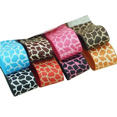 Surker 8 Colors Boutique Printed Grosgrain Ribbon DIY Hair Accessories Bow Value Pack *** Click image to review more details.