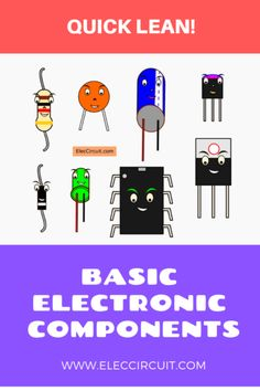 Here are basic electronic components list with images. We need to meet them to build electronics circuits. Electronics Projects, Simple Electronics, Electronics Basics, Electronics Components, Electronic Tattoo, Electronic Arts, Electronic Circuit Projects, Electronic Schematics, Electronic Engineering