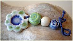 """Conjunto de cerámica """"Primavera azul """" de MAJOYOAL por DaWanda.com"""