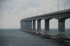 The Confederation Bridge , It's the bridge that connects New Brunswick to Prince Edward Island, Canada. Gateshead Millennium Bridge, Sunshine Skyway Bridge, The Iron Bridge, Coronado Bridge, Chesapeake Bay Bridge, Bosphorus Bridge, New Brunswick Canada, Mackinaw City, Famous Bridges