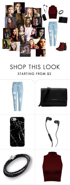 """""""Lydia Martin Teen Wolf"""" by milenakirakosyan1 ❤ liked on Polyvore featuring H&M, Michael Kors, Recover, Skullcandy, Chamilia and WearAll"""
