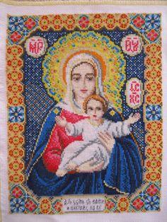 Вышивка крестом мулине иконы