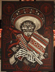 Loco Bandito - Silk Screen Art Print. $19.99, via Etsy.