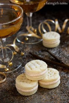 Cream Wafer Sandwich Cookies with Winter Spiced Buttercream from afarmgirlsdabbles.com