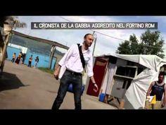 """La Gabbia. """"Ti taglio col coltello"""": Cronista aggredito da Rom!JEDA NEWS"""