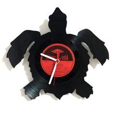 VINYL CLOCK TURTLE