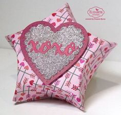 We LOVE this sparkling Star Pillow Box by Frances Byrne. Check out her blog to learn how she created her box: http://stampowl.blogspot.com/2017/02/xoxo.html. Buy the Star Pillow Box on our online store here: https://www.elizabethcraftdesigns.com/products/star-pillow-box