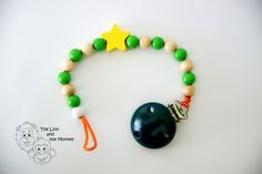 Wooden Soother Chain by TheLionandtheMonkey on Etsy