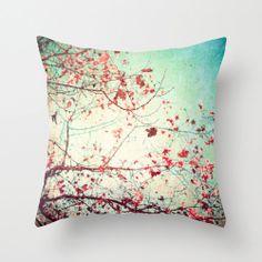 Pillow Cover, Fall pillow, turquoise pillow, Pink Pillow, Vintage Pillow, red Pillow, Sky pillow,tree pillow,brown pillow,rustic decor