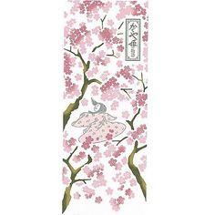 TOWEL TENUGUI - 33x90cm - Dyed - Made in JAPAN - Tale of Princess KAGUYA / Kaguya Hime no Monogatari - Studio Ghibli (RARE product 2013)