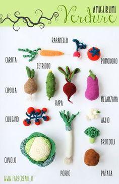 schemi verdura a uncinetto - farecreare