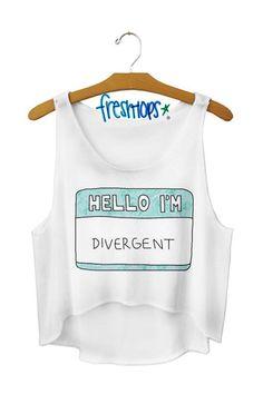 Hello I'm Divergent Crop Top - Fresh-tops.com  I want this so bad!! :D