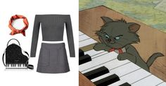 You Pretty Much Need These 14 Novelty Bags to Complete Your Next DisneyBound Look | Aristocats-inspired outfit + Kate Spade piano purse | [ http://di.sn/6000B7fNi ]