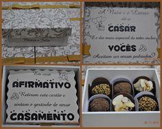 Convite doce para ser padrinho de casamento: uma caixa com Brigadeiros DaLou!