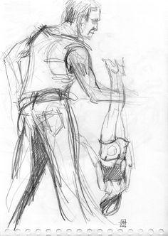 Mélanie Heller Illustration: Séance de croquis au café La Bricole / Duo Dessus-dessous