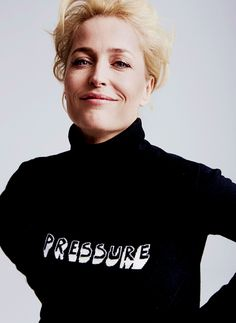 """Gillian Anderson photographed by Chris Floyd. """