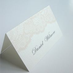 Vintage Lace Name Card / Place Card / Escort by Design4Eternity