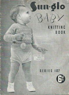 Sun-glo Baby Knitting Book Series 107 - 1940s
