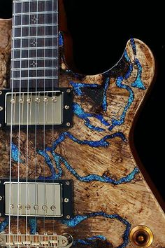 Opal Inlay Guitar - Gorgeous! I want!