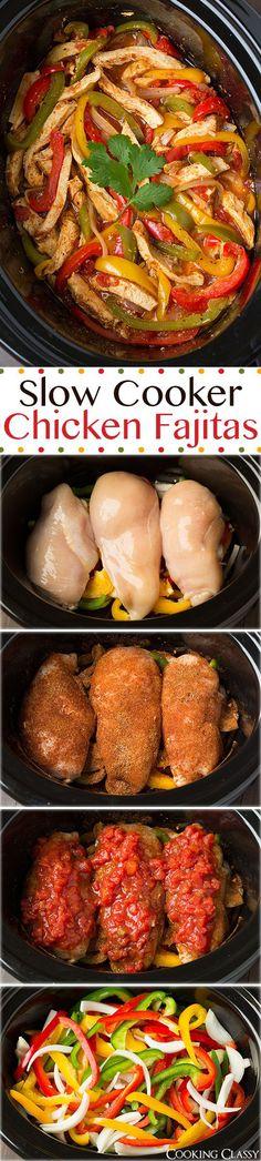 Clean Eating Slow Cooker Chicken Fajitas Recipe paleo dinner instant pot