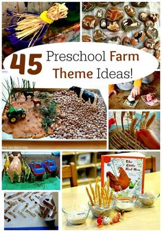 The ultimate list of ideas for a ROCKING preschool farm theme! Farm activities, crafts, snacks, art, and games for kids!