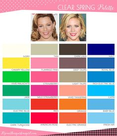 Are You a Spring-Winter (Clear Spring)? ~ 30 something Urban Girl Are You a Spring-Winter (Clear Spring)? ~ 30 something Urban Girl Bright Spring, Clear Spring, Warm Spring, Winter Colors, Spring Colors, Warm Colours, Spring Color Palette, Light Spring Palette, Colour Pallette