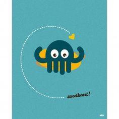 Poster - Bläckfisk