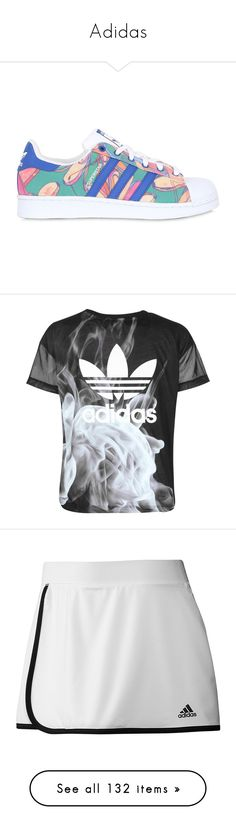 """""""Adidas"""" by vikianna ❤ liked on Polyvore featuring tops, sweaters, shirts, jumpers, adidas sweater, adidas top, shirt sweater, logo top, adidas shirt and intimates"""