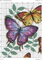 "Gallery.ru / haharina20 - Альбом ""-"" Counted Cross Stitch Patterns, Cross Stitch Designs, Cross Stitch Embroidery, Embroidery Patterns, Embroidery Art, Cross Stitch Pillow, Cross Stitch Boards, Butterfly Cross Stitch, Cross Stitch Flowers"
