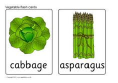 Vegetable flash cards (SB8202) - SparkleBox British and American versions