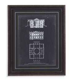 Graphic Building V Framed Painting Print