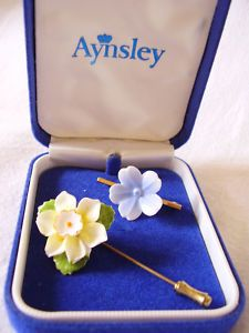 Aynsley Floral Brooch and Floral Pin