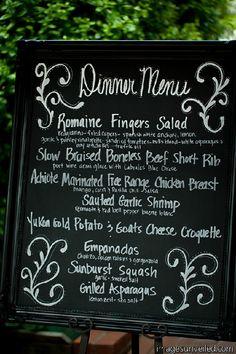 Spanish Tapas inspired wedding menu