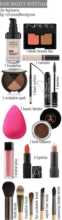 Je veux la même chose sans produits testé sur des animaux et bio si possible Basic Makeup Essentials for Beginners - Citizens of Beauty: