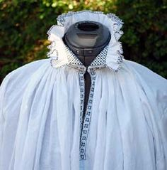 Based on a real example in the Bayerisches National Museum in Munich, Germany dated to circa 1550, this smock aka chemise pattern features a gathered neckline and sleeve edges.