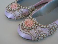 Baby Pink Flower girl shoes by BeholdenBridal on Etsy, $125.00