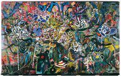 """Daniel Richter """"Der ewige Traum der drei Irren vom Berg"""" 2006 #art #painting"""
