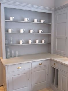 Kitchen Shelves. Pantry by Plain English Kitchens. featured at Henhurst Interiors