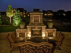 Outdoor Living Spaces  Fireplaces | Accents Lighting