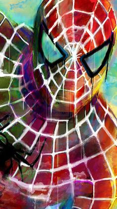 "Spiderman Abstract Art Print; Archival Quality 13""x19""  **EXPRESS SHIPPING AVAILABLE**"