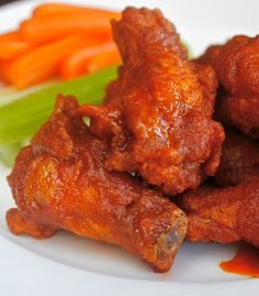 Classic Hot Wings – The Best! Classic Buffalo Hot Wings – The Best! I Love Food, Good Food, Yummy Food, Chicken Wing Recipes, Chicken Wing Sauces, Grilled Chicken Wings, Football Food, Food For Thought, Appetizer Recipes